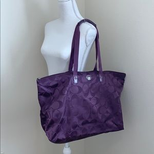 Coach Large Travel Bag w/Pouch in Purple!!!